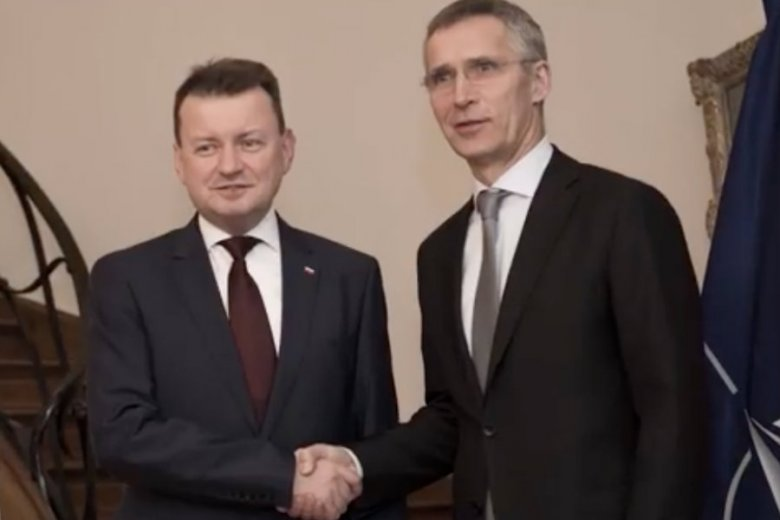 Mariusz Błaszczak na spocie z okazji 19 rocznicy wejścia Polski do NATO.