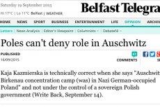 """Irlandzkie media: """"Polska nie może zaprzeczyć swojej roli w Auschwitz"""""""