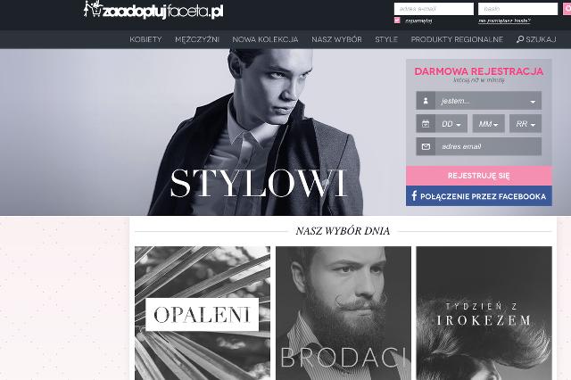 Strona główna ZaadoptujFaceta.pl.