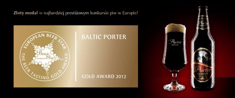 W 2012 r. na najwyższym miejscu podium na European Beer Star stanął Porter Warmiński.