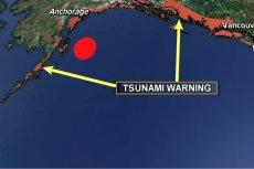 M.in. zachodnie wybrzeża USA i Kanady są zagrożone tsunami