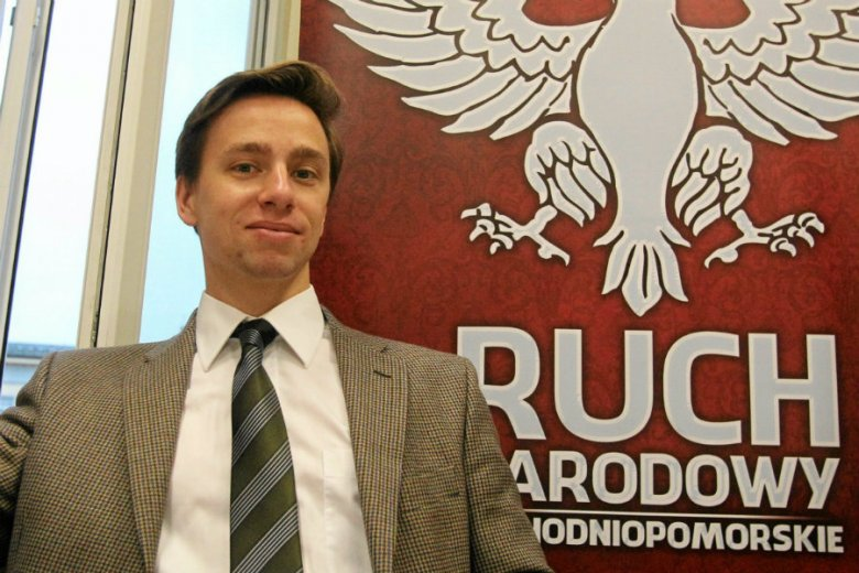 Krzysztof Bosak spędził w Biłgoraju weekend tylko z Polakami.