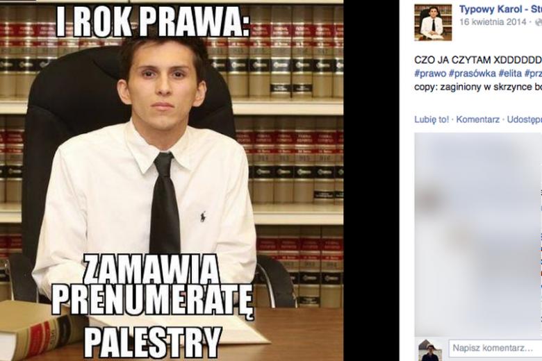 """Studenci prawa obśmiewani w sieci za """"szpanerstwo"""""""
