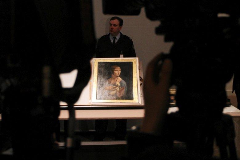 """""""Dama z gronostajem"""" to najważniejszy element kolekcji Czartoryskich."""