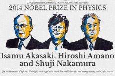 Tegorocznymi laureatami Nagrody Nobla w dziedzinie fizyki zostali Isamu Akasaki, Hiroshi Amano oraz Shuji Nakamura