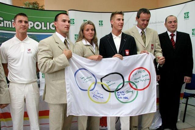 Przed wylotem na igrzyska do Pekinu (2008)