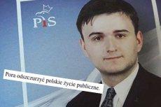 Michał Szymański, kandydat PiS w wyborach samorządowych w Warszawie. Jeszcze niedawno gloryfikował idee współpracowników Hitlera.