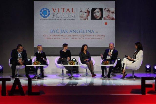 """Panel Vital Forum """"Być jak Angelina – czy zachowania celebrytów mają wpływ na zmianę postaw kobiet wobec problemów zdrowotnych?"""""""