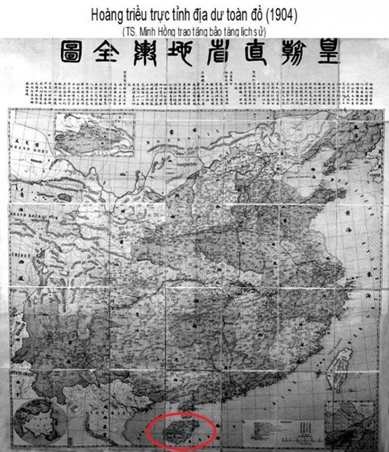 Oryginalna mapa pochodząca z 1904 roku, na które widać iż Wyspy sa własnością Wietnamu.