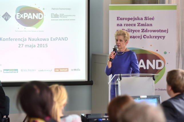 Obecna na I Konferencji Naukowej Expand była także wiceminister zdrowia Beata Małecka-Libera