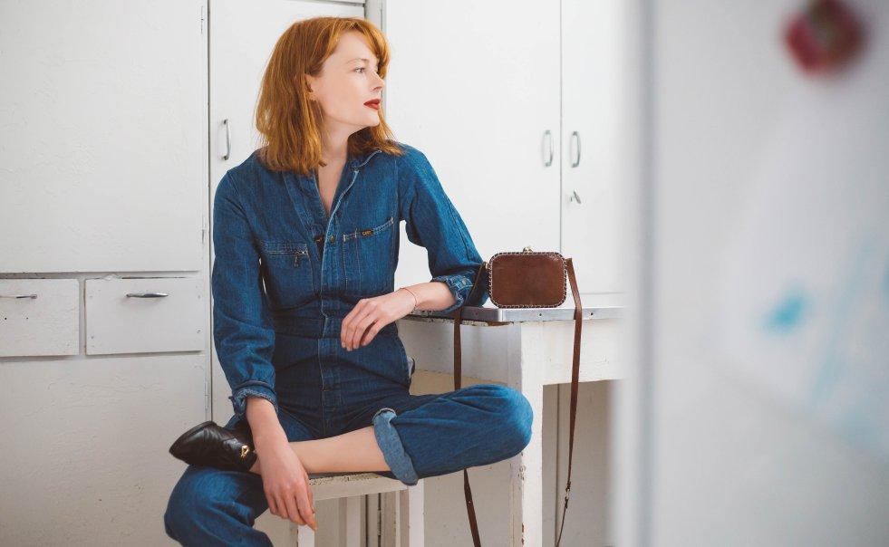 Na zdjęciu Marzena Pokrzywińska, która na co dzień nosi tylko ciuchy vintage.