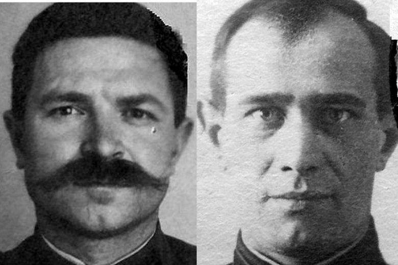 Aleksiej Rubanow, konwojent NKWD oraz Grigorij Ziuskin, strażnik więzienia NKWD w Smoleńsku - obaj współodpowiedzialni za zbrodnię katyńską.