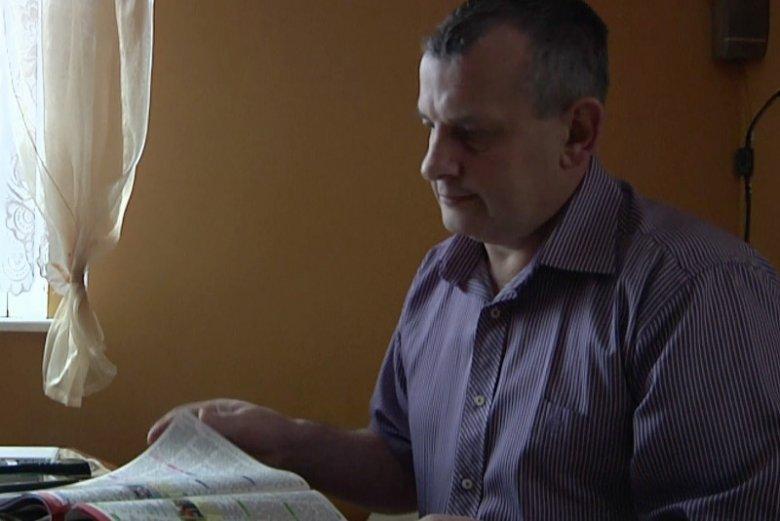 Adam Meyna, chory na chłoniaka