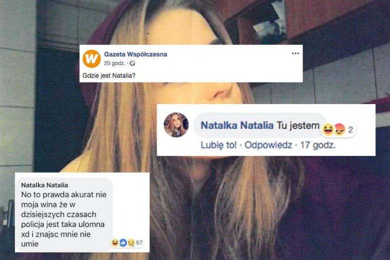 14-latka jest poszukiwana przez policję. Pisze jednak posty na Facebooku