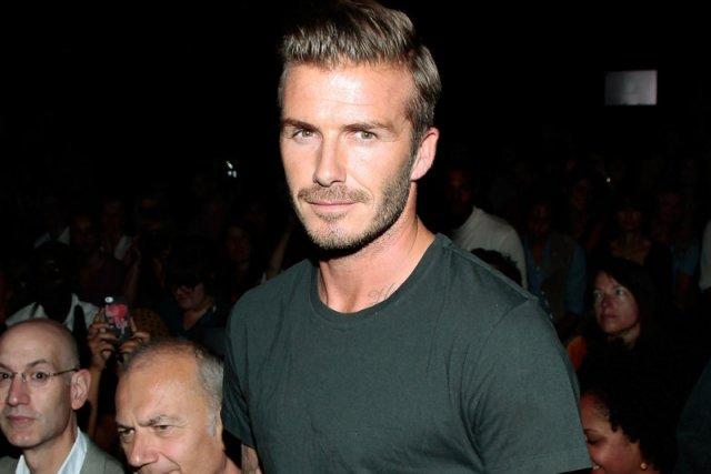 David Beckham na pokazie Y-3 w Nowym Jorku