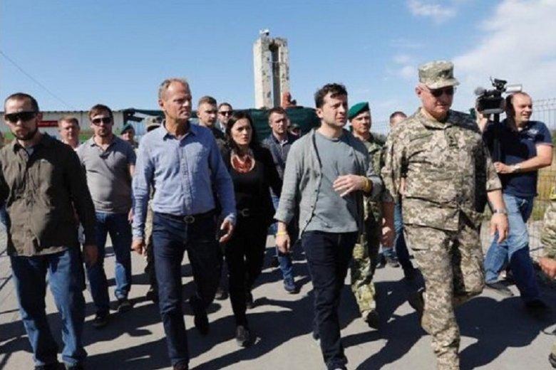 Donald Tusk z wizytą na Ukrainie.