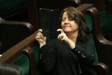 Joanna Lichocka w Sejmie.