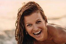 Anna Lewandowska pokazała odważne zdjęcie w skąpym bikini na plaży.