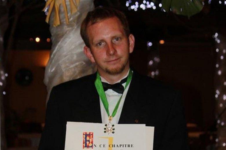 Rafał Banach jest pierwszym Polakiem Officier Ordre des Coteaux de Champagne