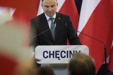 Sympatycy Andrzeja Dudy zaatakowali opozycję w Chęcinach.