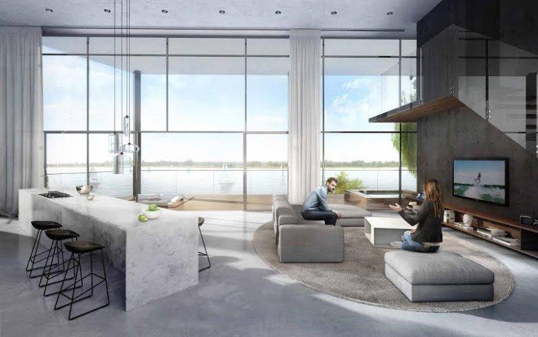 Wizualizacja wnętrz apartamentowca Portico Marina