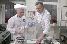 Andrzej Duda przed świętami wziął sięza gotowanie.