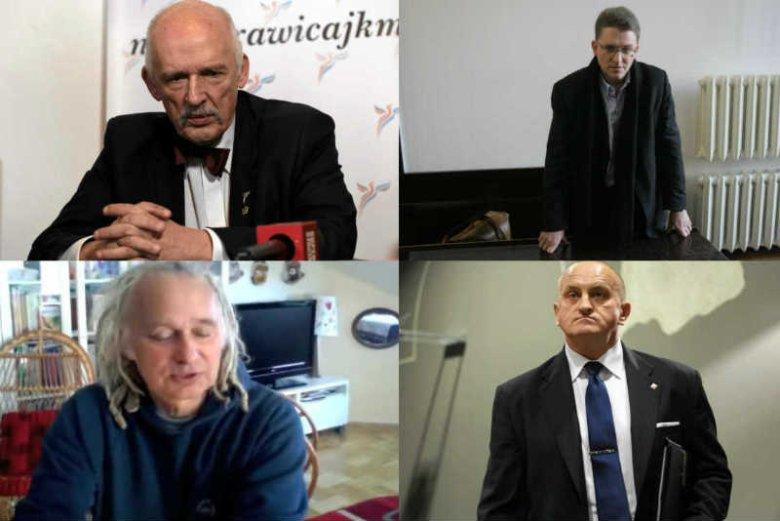 Janusz Korwin-Mikke, Grzegorz Braun, Waldemar Deska i Marian Kowalski będą w wyborach prezydenckich reprezentować polityczny plankton.