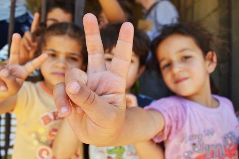Dzieci-uchodźcy w obozie w Libanie, fot. Trocaire.org