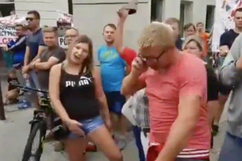 Przeciwnicy Marszu Równości w Płocku.