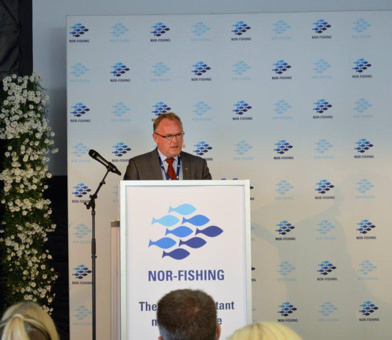 Norweski minister rybołowstwa Per Sandberg otwiera Nor-Fishing 2016