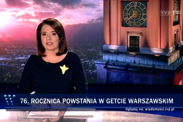 """W rocznicowym materiale """"Wiadomości"""" pominęły ważnego przywódcę powstania w getcie warszawskim."""