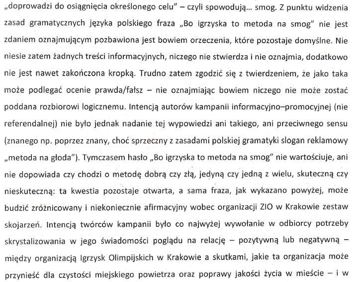 """Gmina Kraków przed sądem twierdziła, że kampania obywa się za pomocą pozbawionych sensu """"fraz"""""""