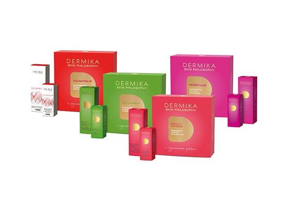W ofercie marki Dermika Salon & Spa znalazły się cztery zestawy: Tea Therapy, Neobotuline, Beauty Express i Volumatrix Rf