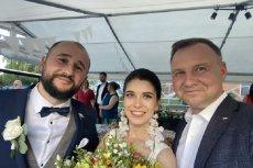 Andrzej Duda pojawił się na weselu.
