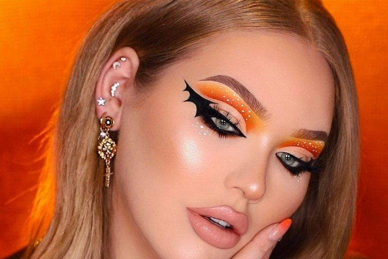 Oczy nietoperza to świetny pomysł na halloweenowy makijaż