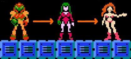 "Samus Aran z serii ""Metroid"" to kobieta."