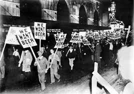 Protesty przeciw prohibicji.
