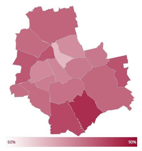 Mapa frekwencji opublikowana przez PKW.