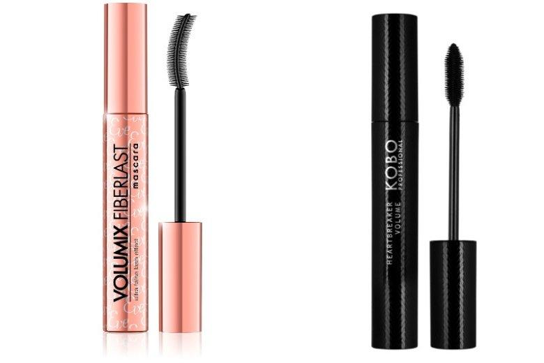 Tusz Eveline to propozycja dla zwolenniczek delikatnego makijażu, natomiast mascara KOBO świetnie sprawdzi się w wieczorowych stylizacjach.