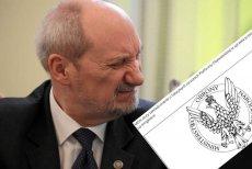 Obrona przez atak. Macierewicz straszy posłów PO prokuraturą, jeśli złożą doniesienie o ujawnieniu tajemnic wojskowych