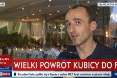 """Robert Kubica był """"Gościem Wiadomości""""."""