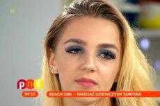 """Makijaż w """"stylu dziewczyny surfera"""" w """"Pytaniu na śniadanie'"""