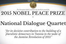 Laureatem tegorocznej Pokojowej Nagrody Nobla został tunezyjski Narodowy Kwartet Dialogu