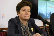 Hanna Gronkiewicz-Waltz podczas konferencji prasowej na temat rozbudowy II linii metra.