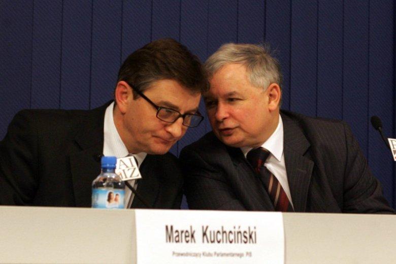 Kaczyński o Kuchcińskim kilkanaście lat temu: wymyślił pojęcie TKM.