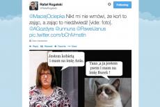 Rafał Rogalski na twitterze bezpardonowo zaatakował posłankę Annę Grodzką.