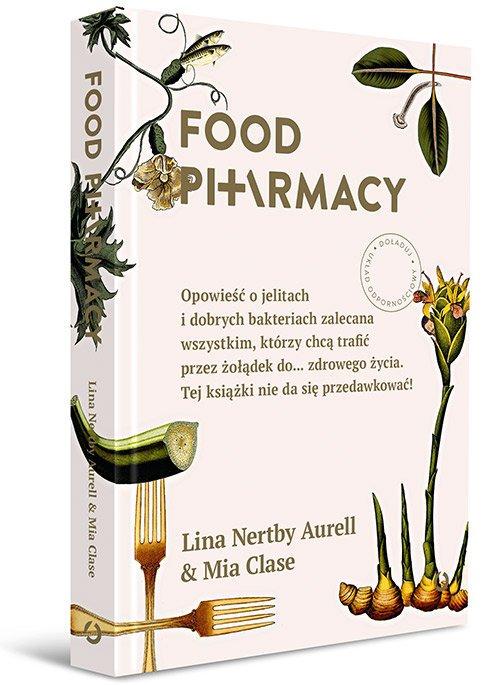 """""""Food Pharmacy"""" to książka o tym, dlaczego i jak dbać o jelita. Jej autorkami są dwie pasjonatki zdrowego żywienia i tropienia bieżących badań. Wiedzę czerpią również z mądrości profesora Stiga, który od lat zajmuje się badaniem flory jelitowej."""