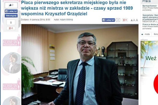 W wywiadzie dla Gazety Pomorskiej powiedział, że nie ma sentymentu za PRL. Podsumowanie osiągnięć nowej demokracji wypada blado.