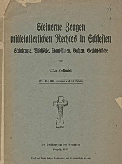 Strona tytułowa dzieła Maxa Hellmicha z 1923 r. (za: J. Warylewski