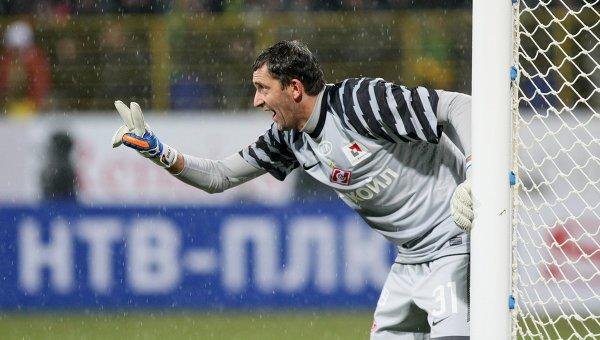 Dikan - bramkarz Spartaka Moskwa i reprezentacji Ukrainy, wieczorem najbardziej zapracowany człowiek na boisku?